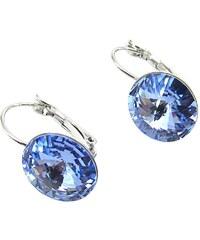 Rivoli 14 mm náušnice bledě modré Swarovski crystals eac5948a304