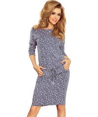 Numoco Sportovní šaty se vzorem malých květin - modré f68bb8213d