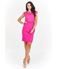 Dámské korálové elegantní šaty BELLA MODA London - Glami.cz 78a0371650