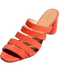 068497402a1 Oranžové dámské boty na podpatku - Glami.cz