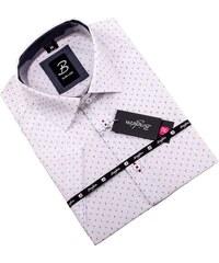 Modrobílá pánská košile vypasovaný střih Brighton 109817 001ea45ac3