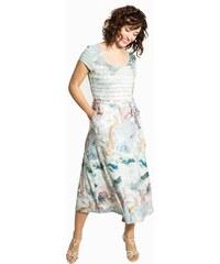 Smash COMPTA Dámské krátké šaty modré se vzorem c9c33cd473a