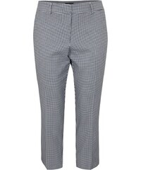 5c16f8f0b336 Bílo-modré zkrácené kostkované kalhoty Dorothy Perkins Curve