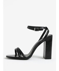 34e9a5724ca8 Čierne sandále na vysokom podpätku MISSGUIDED