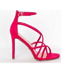 ea15d7e8191e6 SEASTAR Módne ružové sandále s ozdobným pásikom okolo členku - Glami.sk
