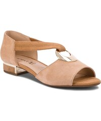 Sandále CAPRICE - 9-28111-20 Sand Suede 318 3b6ebbca354