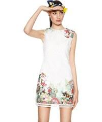 Desigual bílé šaty Magarita s barevnými motivy c06637b1db4