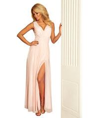 LAFIRA Dámské světle růžové maxi šaty 166-4 7e8d3052b0