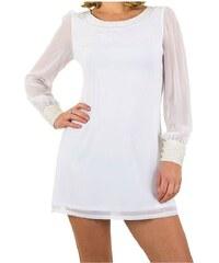 Biele Šaty so zapínaním na zips - Glami.sk 53e44ca177f