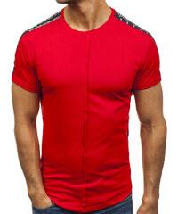 56a55bb7c1db Červené pánske tričko s potlačou BOLF 181395