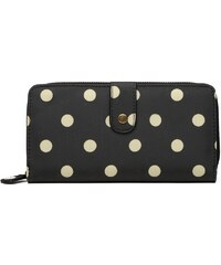 Miss Lulu Praktická peňaženka - čierna bodkovaná 8eb39c266a1