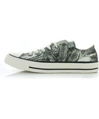 bfa1c050f4 Converse Dámské šedo-zelené nízké tenisky Chuck Taylor All Star Feather  Print