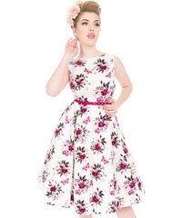 7f60556a411d Bílé šaty s růžový květy Lady V London Audrey