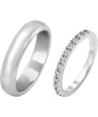 Eppi Dámsky eternity prsteň a pánska pologuľatá svadobná obrúčka Larry fb69cf336c0
