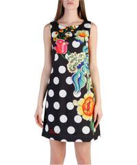 Dámské šaty s mírně rozšířenou sukní a puntíky Desigual - černá b888a9ec12