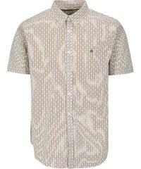 Krémová vzorovaná košile s krátkým rukávem Merc 67dbfbe76f