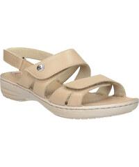 99a9d1cffce9 Comfit Dámske béžové kožené sandále so suchými zipsami