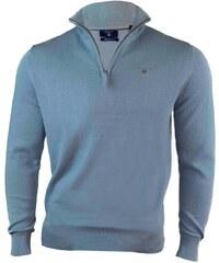 035afd9cf4f3 Gant Pánský světle modrý svetr Gant se zipem 9089