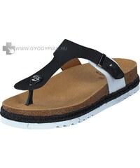 Scholl Idylla fekete fehér bioprint női lábujjközi papucs - kényelmi modell  37 25b162279f