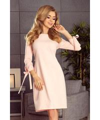 526b48bd875a Perfect Nadýchané a elegantní šaty s 3 4 rukávem s mašlemi na zavázání