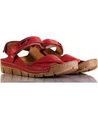 Červené dámské sandály  d61b8ad51a