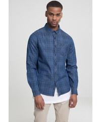 ead4766d704e Pánska košeľa s dlhým rukávom URBAN CLASSICS Printed Check Denim Shirt