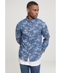 6bd704eaa3cc Pánska košeľa s dlhým rukávom URBAN CLASSICS Printed Palm Denim Shirt
