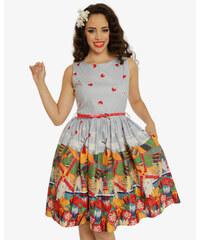 Světle modré šaty s motivem Holandska Lindy Bop Audrey 3e7f39da93
