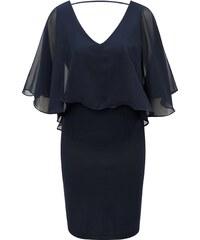 Tmavomodré šaty s volánom VILA Says bc158ce12bf
