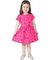 d3f0b56adbd Afrodit Dívčí bavlněné šaty Summer tm. růžové 122