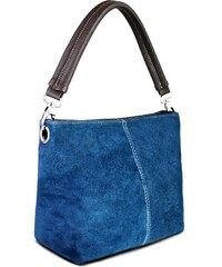 Kožená kabelka Miss Lulu Suede Single Strap Navy 038f33c78b2