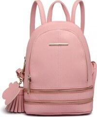 b005636f950 Lulu Bags Růžový dámský stylový moderní batoh Misie