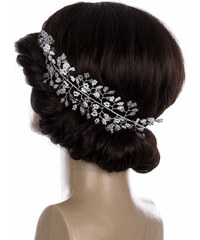 a147da46442 Fashion Icon Svatební ozdoba do vlasů - čelenka Stříbrná větvička velká s  perly a krystalky