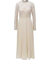 Krémové šaty s plisovanou sukní Little Mistress 7b84e2bf84
