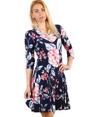 a727066b5857 Glara Dámske letné šaty s kvetovanou potlačou aj nadmerné veľkosti