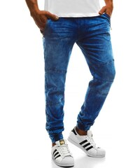 bb082eef079 Riflové jogger kalhoty s červeným doplňkem RF HY269 1 - Glami.cz