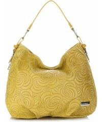Vittoria Gotti Made in Italy Módní Kožená kabelka žlutá 9600f0a183