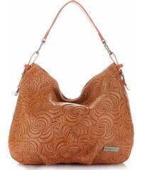 9ca50b7fef Vittoria Gotti Made in Italy Módní Kožená kabelka oranžová