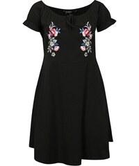 Černé šaty s výšivkou Dorothy Perkins Curve 1b04d0c41b