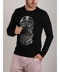 Černé pánská trička s dlouhým rukávem - Glami.cz efe5e0e965