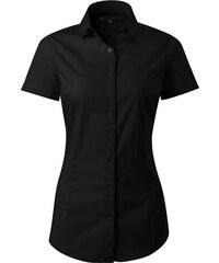 cf0de5083ac4 The SHE Čierna elegantná dámska slim fit košeľa s krátkym rukávom