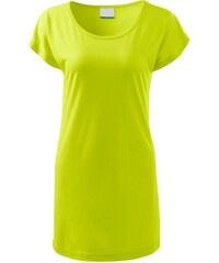 c3e5f468a3e8 The SHE Limetkově zelené dámské dlouhé tričko šaty