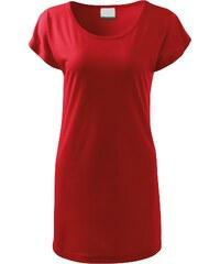 aba27a7eaa1a The SHE Červené dámske dlhé tričko šaty