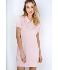 The SHE Púdrovo ružové bavlnené šaty s golierom d38744e7bca