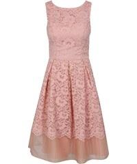 7171e8ebcbe3 Ružové čipkované šaty Chi Chi London Maniel