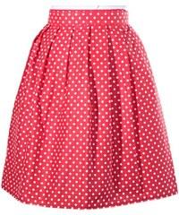c559bf849ea Afrodit Puntikatá červená zavinovací sukně Merisa