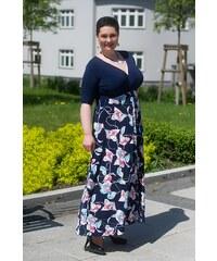 e0ffd9cebd5 Bellazu CZ Dlouhé letní šaty Alaina Bellazu s tmavě modrou sukní