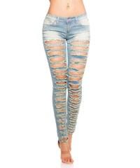 45480897182 Dámské potrhané džíny
