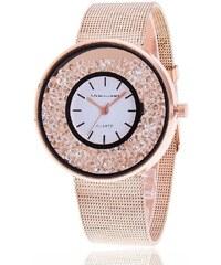 Shim Watch Svar Dámské kovové hodinky s kamínky Růžové 71e3059f9e