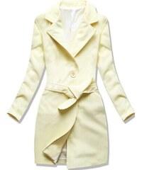 Dámský jarní podzimní kabát Sappho žlutý - žlutá d1043fb519